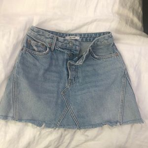 GRLFRND Jean Skirt in size 24.